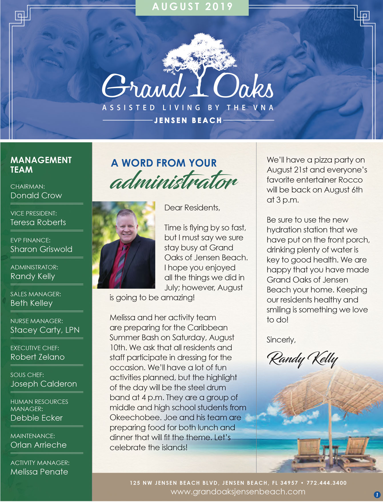 Grand Oaks of Jensen Beach Newsletter