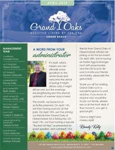 Grand Oaks Jensen Beach Newsletter April 2019
