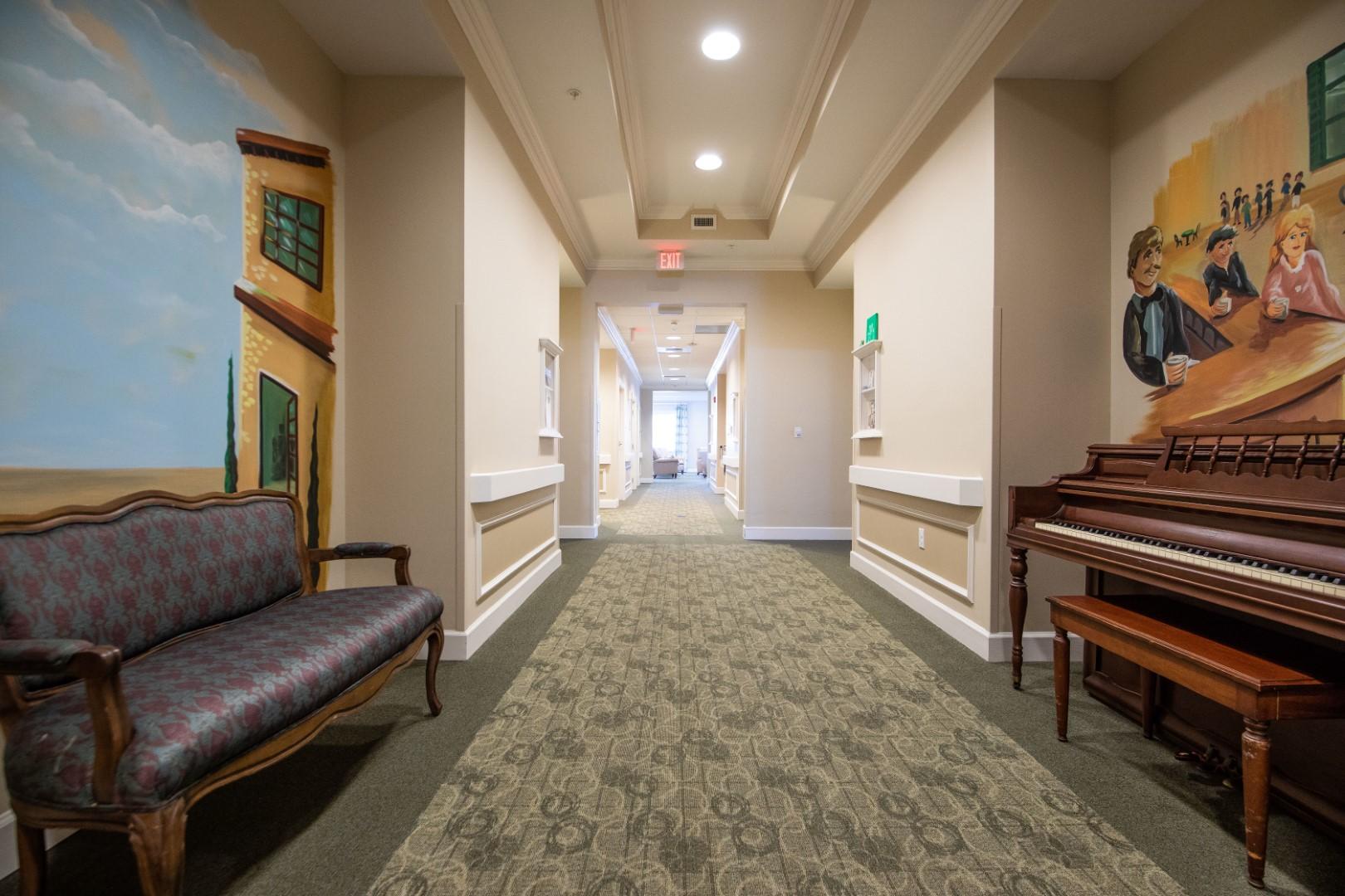 Grand Oaks of Jensen Beach Memory Care Hallway